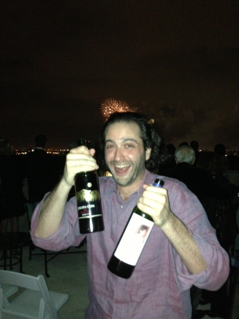 Happy New Year! Enjoying Andrew Will Sorella '98 and Quliceda Creek Merlot '93 during the fireworks in PB, FL!