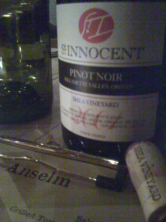 What was that about American Pinot not aging well again?