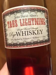 Taos Lightning Rye 5yr.