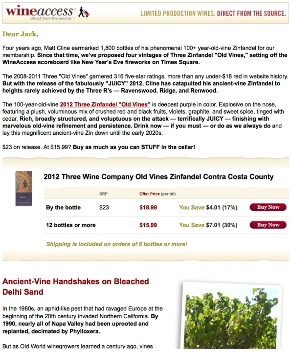 WineAccess Three offer 12-14